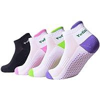 veewon 4pairs antideslizante Yoga Calcetines Non Slip Skid Calcetines silicona Dot algodón para mujeres niña Fitness Gym Sport Dance
