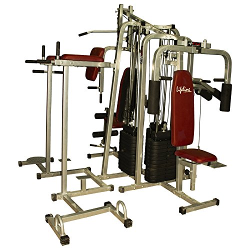 27% off on lifeline 6 station home gym 3 weight lines on amazon
