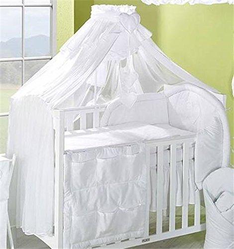 Lusso 480cm baby baldacchino/zanzariera per lettino + supporto/rod (bianco)