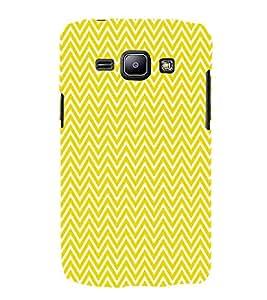 Yellow Chevron 3D Hard Polycarbonate Designer Back Case Cover for Samsung Galaxy J1 :: Samsung Galaxy J1 J100F (2015)