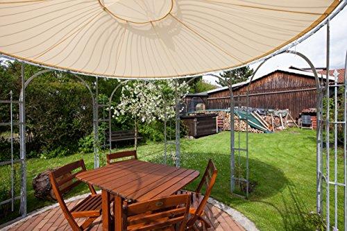 ELEO Florenz runder Gartenpavillon aus Metall mit Sonnensegel, Ø 3,7 Meter (Oberfläche: feuerverzinkt) - 6