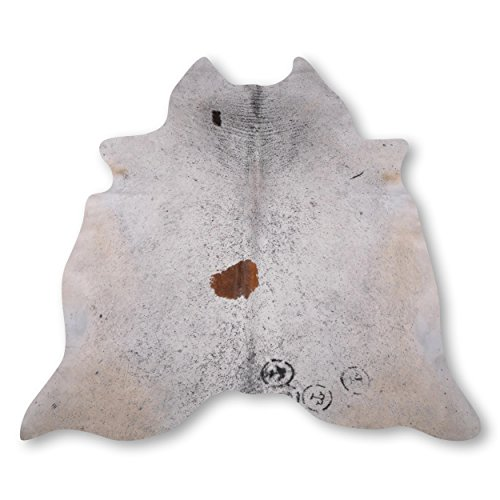 Premium Kuhfell-Teppich aus Südamerika - 100% Naturprodukt - salt & pepper gestreift L235 x B210cm