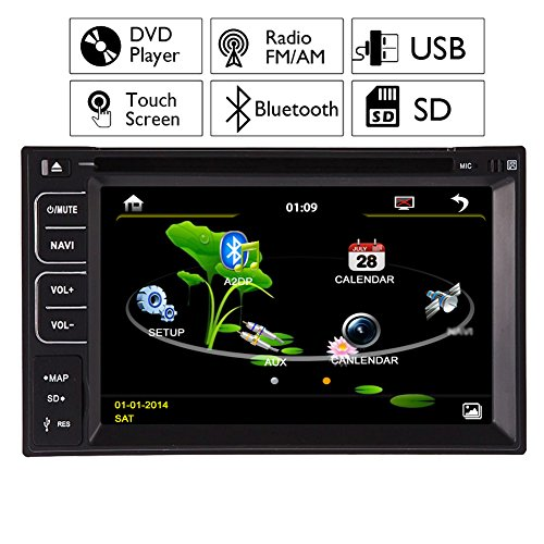 Autoradio nel mazzo Auto Video Auto Radio MP3 Musica autoradio DVD lettore CD Automotive Parts Headunit Elettronica 2 din in dash Multimedia Touch Screen Telecomando RDS