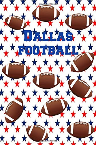 Dallas Football: Homework Book Notepad Composition and Journal Diary Notebook