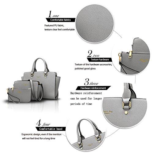 Sunas Il nuovo sacchetto di spalla trasversale della borsa delle donne di retrò 3 adatta i raccoglitori del sacchetto del messaggero del sacchetto femminile grigio chiaro