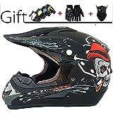 Smx Erwachsene Jugend Motocross Helm, Unisex Off-Road-Roller-Motorrad-Sturzhelm-Kreuz Vollvisierhelm...