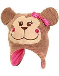 Bonnet thermique à motif animal - Fille