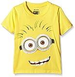 MINIONS Jungen T-Shirt Tom Face, Gelb (Yellow), 7-8 Jahre