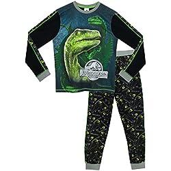 Jurassic World Pijama para Niños - Jurassic World - Brillan En La Oscuridad - 11 - 12 Años