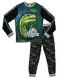 Jurassic World - Pigiama a maniche lunga per ragazzi di - Jurassic World Si Illumina Al Buio - 8 a 9 Anni
