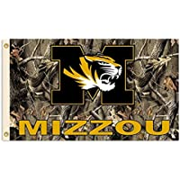 NCAA Missouri Tigers Realtree Camo Background Flag with Grommets, 3 x 5-Feet