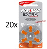 120 Rayovac Extra Advanced Nr 13 Hörgerätebatterie Zinc Air Mercury free 2016 (P13 PR48 ZL2)