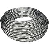 BriTools M86121G - Cable acero galvanizado (3 mm) color galvanizado