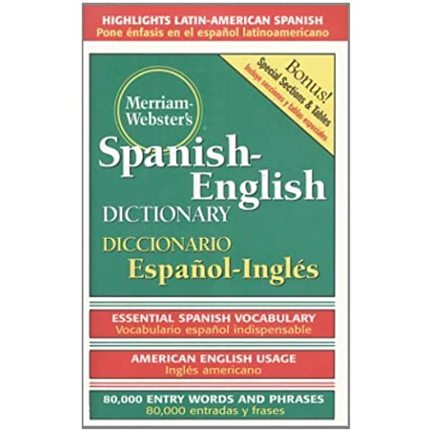 Merriam-Webster's Spanish-English Dictionary by Merriam-Webster (1998-05-15)