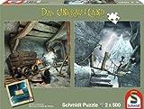 Schmidt Spiele 59602 - Das Unkrautland, Quadratpuzzles, In den Koboldminen und Die Schlucht, 2 x 500 Teile