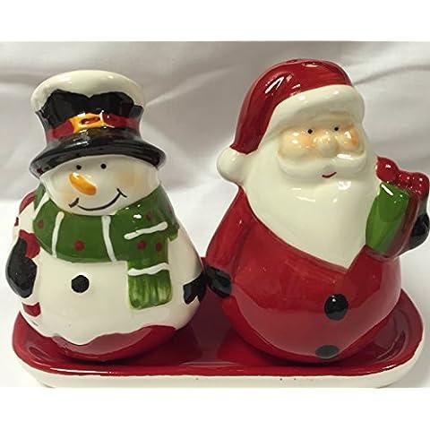 Natale a forma di pupazzo di neve, Babbo Natale & & Salt Pepper Set