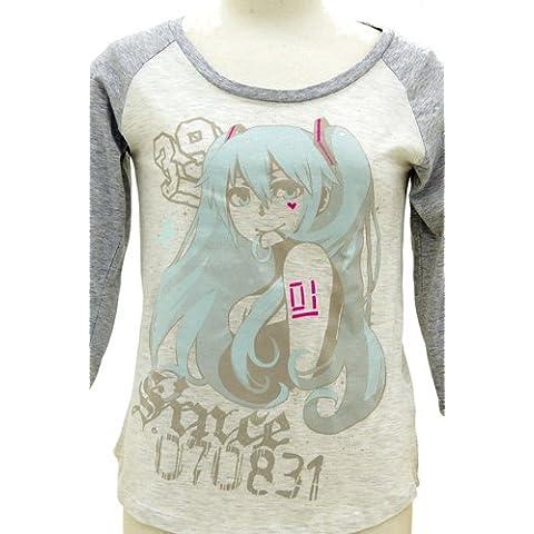 Hatsune Miku CHAN x CO ver Girl cut-and-sew oatmeal x Heather Grey Size:. GIRLS M (japan import)