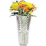 Kristall Blumenvase (1Pc) - 30cm Kristall Klaren Glaswaren Vasen - Blumenvase Gross für Hochzeit Mittelstück Dekoration, Hohe Blumenvasen für Wohnzimmer, Dekoration - Hochzeitsgeschenk und Wohndekor