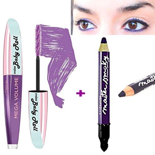 5357c9cad98 KIT L'Oréal Paris Make Up Designer Mega Volume Miss Baby Roll Mascara  Violet +