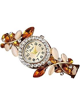 Vovotrade Heißer Verkauf der Frauen Frau Diamant Uhren (Orange)