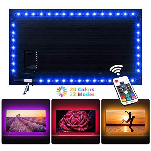 Preisvergleich Produktbild NEXVIN LED Strip 2m,  Led TV Hintergrundbeleuchtung - RGB Led Streifen,  Led Band,  USB Led Beleuchtung für 40 bis 60 Zoll HDTV,  TV-Bildschirm und PC-Monitor,  17 key Fernbedienung