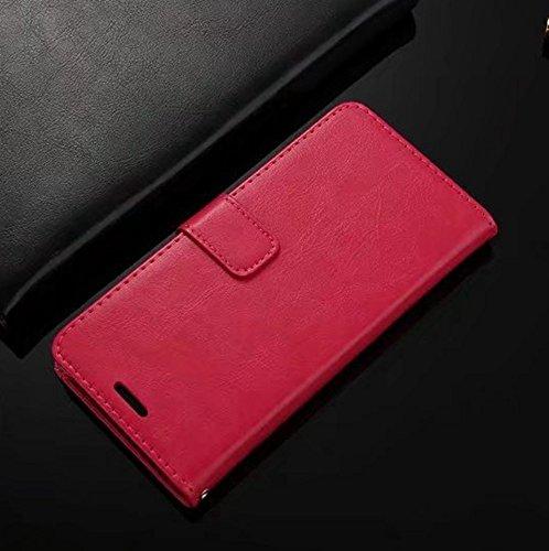 Retro Folio Stand Case Retro Classic PU Leder Geldbörse mit Kartensteckplätzen für OnePlus 5 ( Color : Blue ) Rose