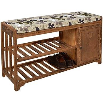 ts ideen landhaus flurbank kommode regal bad schuhschrank sitzbank mit sitzkissen und schuhregal. Black Bedroom Furniture Sets. Home Design Ideas