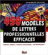 450 modèles de lettres professionnelles efficaces