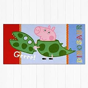Peppa Pig - Serviette Bain 100% Coton George Dinosaure Grrrrrrrrrrrr Imprimé