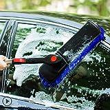 RUIX Autowaschbürste Langer Griff Versenkbare Drehbare/Reinigung Mopp/Weiches Haar/Auto Reinigungsmittel, Keine Verletzung des Autos