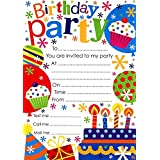 Kids Childrens Birthday Party Invitation Pack of 20 invites with envelopes