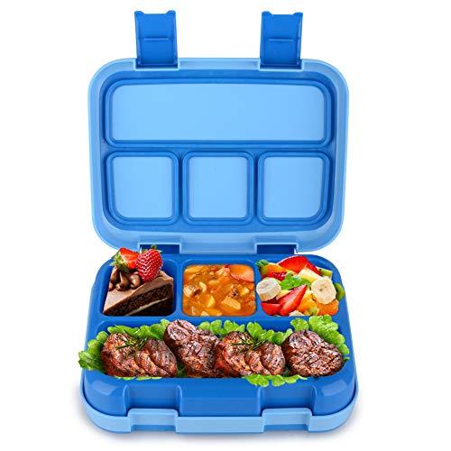 Jelife Bento Box Kids Brotdose Lunchbox Kinder für Schule Picknick Ausflug mit 4 Unterteilungen auslaufsicher (Lunch-box Und)