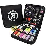 BIGTEDDY - 72pc Anfänger Stickerei Nähzeug Werkzeuge Reise Notfall Nähen liefert Zubehör für Home Office Kleid und Kleidung Reparatur Fäden und Nadeln und vieles mehr