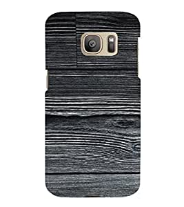 PrintVisa Mica Wooden Pattern 3D Hard Polycarbonate Designer Back Case Cover for Samsung Galaxy S7 Edge