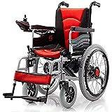 Chair Silla de Ruedas eléctrica Plegable con Motor Doble con 2 baterías de hasta 15 Millas Silla de Ruedas Liviana.