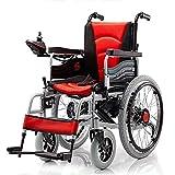 Chair Silla de Ruedas eléctrica Plegable con Motor Doble con 2 baterías de hasta 15 Millas Silla de Ruedas Liviana portátil, Segura y fácil de Conducir,Red