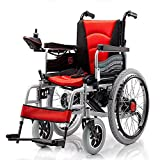 Chair Silla de Ruedas eléctrica Plegable con Motor Doble con 2 baterías de hasta 15 Millas Silla de Ruedas Liviana...