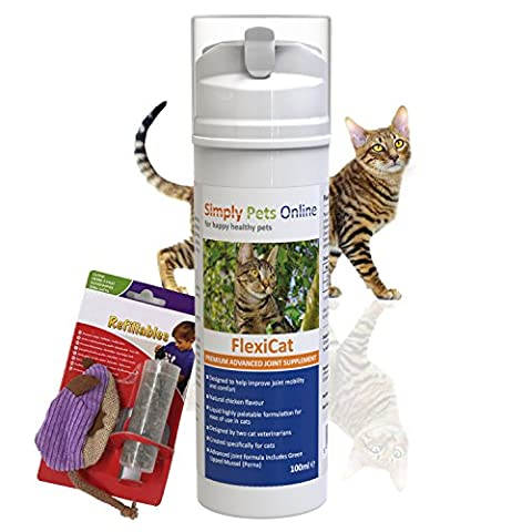 FLEXICAT Liquid Joint Supplement for Cats | Help soothe stiff joints, relief from arthritis pain, and promote mobility 100