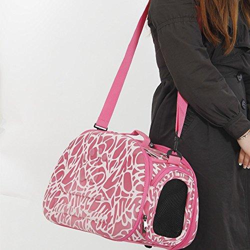 Vycloud (TM) Spedizione Animali bagagli pieghevole libero per Cani Gatti piccolo cane del gatto Carrier Bag Fanshional design Externide pacchetto del sacchetto per il cane