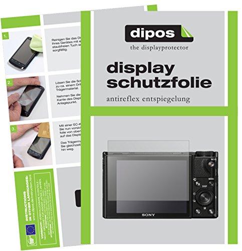 dipos I 6X Schutzfolie matt passend für Sony DSC RX100 VI Folie Displayschutzfolie