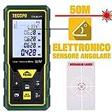 Telemetro Laser 50M, TECCPO Misuratore Laser Distanza, Sensore Angolare Elettronico,...