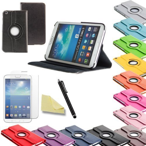 3in1 SET Tab3 8.0 360° Schutzhülle + Folie + Pen Samsung Galaxy Tab 3 8.0 SM-T310 T311 T315 Tasche Etui (Schwarz)