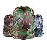 Fully 2X Camouflage Rucksack Überzug Regenhülle Regenschutz Reisegepäck Koffer Cover Wasserdicht Reisen Camping (Zufällig, 20-28L)