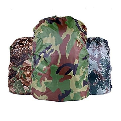 Fully 2x Camouflage Rucksack Überzug Regenhülle Regenschutz Reisegepäck Koffer Cover Wasserdicht Reisen Camping (Zufällig, 30-40L)