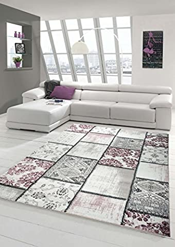 Edler designer rug Contemporary rug area rug Patchwork Vintage Heather