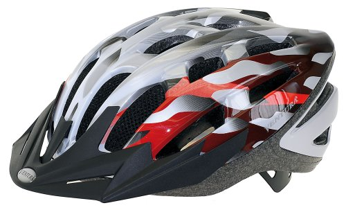 Ventura Helm Semi-in-Mold Helm, silber/weiß/ rot, M (54-58 cm)