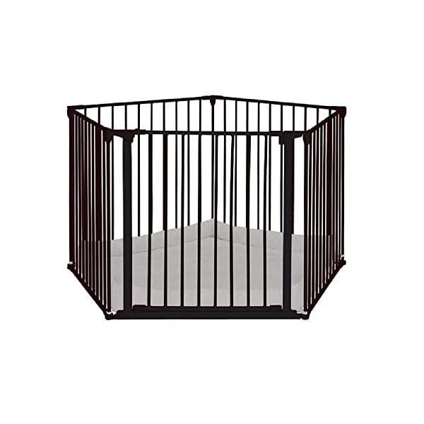 BabyDan Park-a-Kid Play Pen Black BabyDan Comfortable and safe place for baby to play and rest Includes 4x 72cm panels and 1x 72cm gate panel Can also be used as a room divider, safety gate and hearth gate with wall mounting kit (sold separately) 3