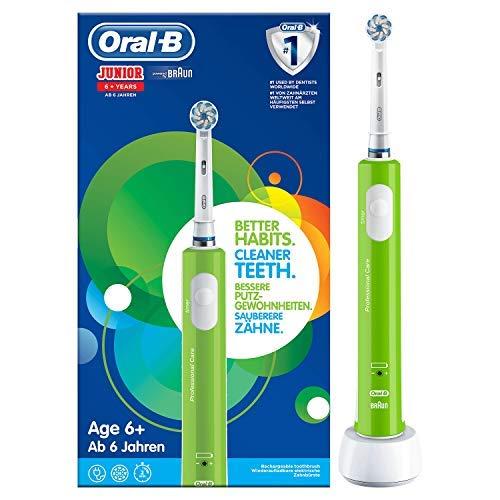 Oral-B Junior 6+ Verte Brosse À Dents Électrique Rechargeable