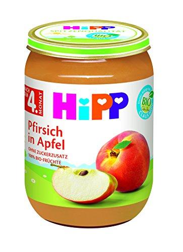 Hipp Pfirsich mit Apfel, 6-er Pack (6 x 190 g)
