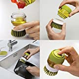 #10: Lukzer Plastic Cleaning Brush with Liquid Soap Dispenser, Self Dispensing Cleaning Brush for floors,Kitchen,Laundry and other Household Chores.